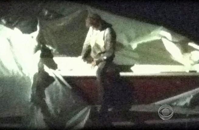 Dzhokhar Tsarnaev was captured on Friday evening (AFP/ CBS News)