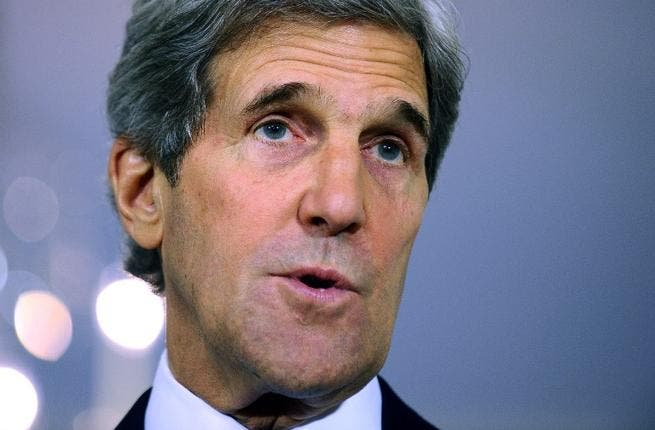 US Secretary of State John Kerry arrives in the Middle East on Tuesday (AFP)