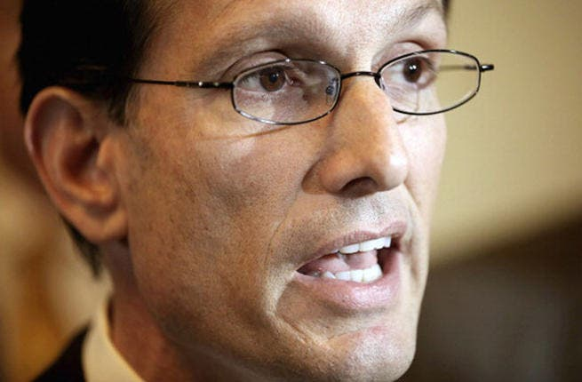Eric Cantor, House of Representatives Majority Leader emphasizes importance of Egyptian stability to US national security.   (Photo by Chip Somodevilla/Getty Images)