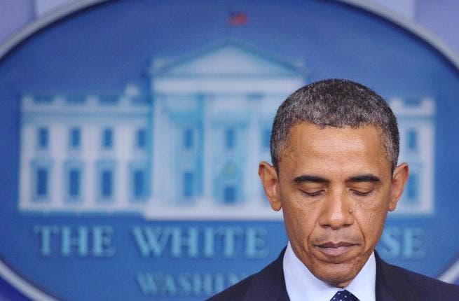 US President Barack Obama speaking after two explosions rock the Boston Marathon (AFP/ Mandel Ngan)