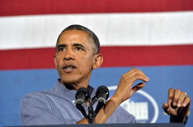 US President Barack Obama on August 22, 2013 in Syracuse, New York.  AFP Photo/Jewel Samad