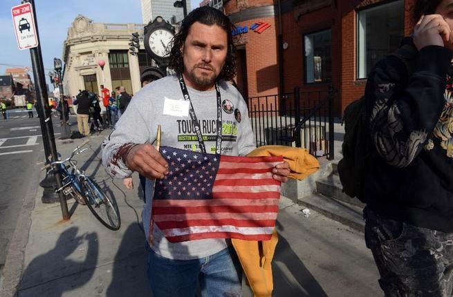 Carlos Arredondo, who was at the finish line of the 117th Boston Marathon when two explosives detonated.