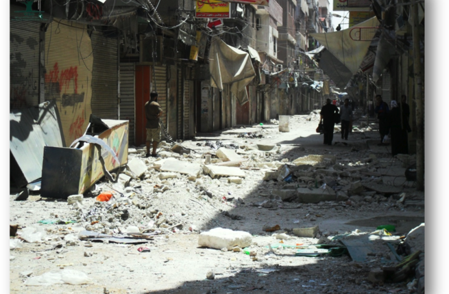 Residents of the rebel-held East Ghouta area outside Damascus worry that the regime's blockade will soon make their living situation comparable to areas like Moadamiya, where a yearlong blockade has led to starvation, fatal illness and deplorable humanitarian conditions (Courtesy of Violations Documentation Center in Syria)