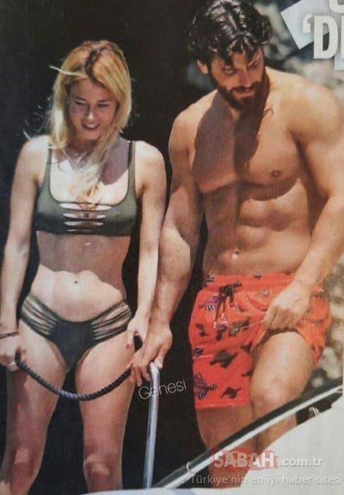 Can Yaman and Diletta Leotta trip vacation bikini Capri Island lake camo