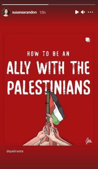 susan sarandon palestine sheikh jarrah