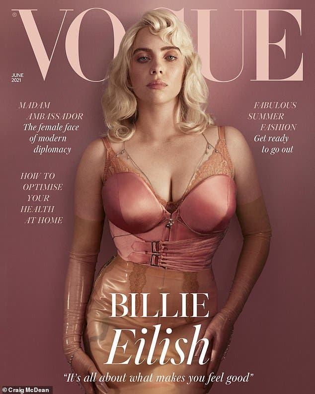 """""""""""Billie Eilish Admits To Vogue That She Wants To Show Off Her Body naked revealing woman"""