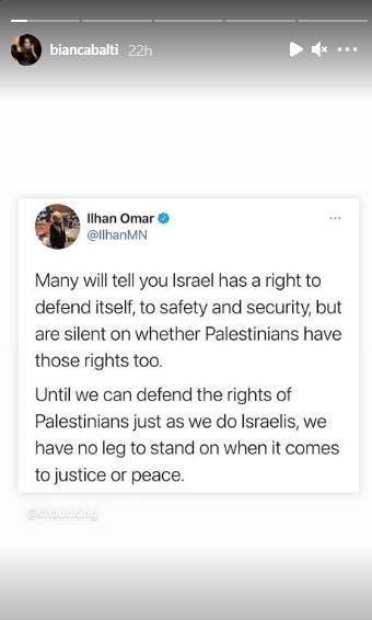 Beliau menyokong penuh rakyat Palestin