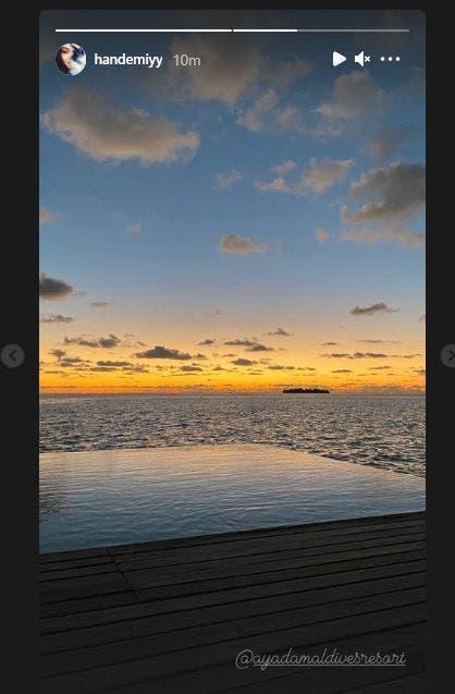 """""""Kerem Bürsin Bursin Hande Erçel Ercel Serenay Sarıkaya Sarikaya Instagram untag Maldives love Aşk"""""""