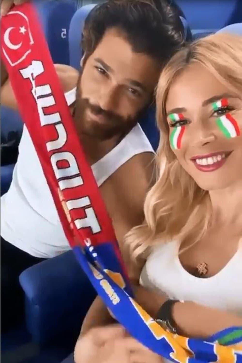 Can Yaman Dileta Lotta İtalya - Türkiye Avrupa Kupası maçı