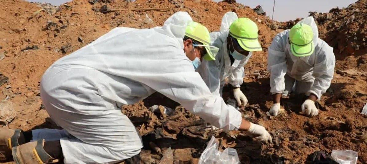 انتشال 35 جثة مجهولة جديدة من مكب القمامة في ترهونة الليبية