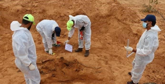 العثور على مقبرة جماعية في مدينة ترهونة الليبية