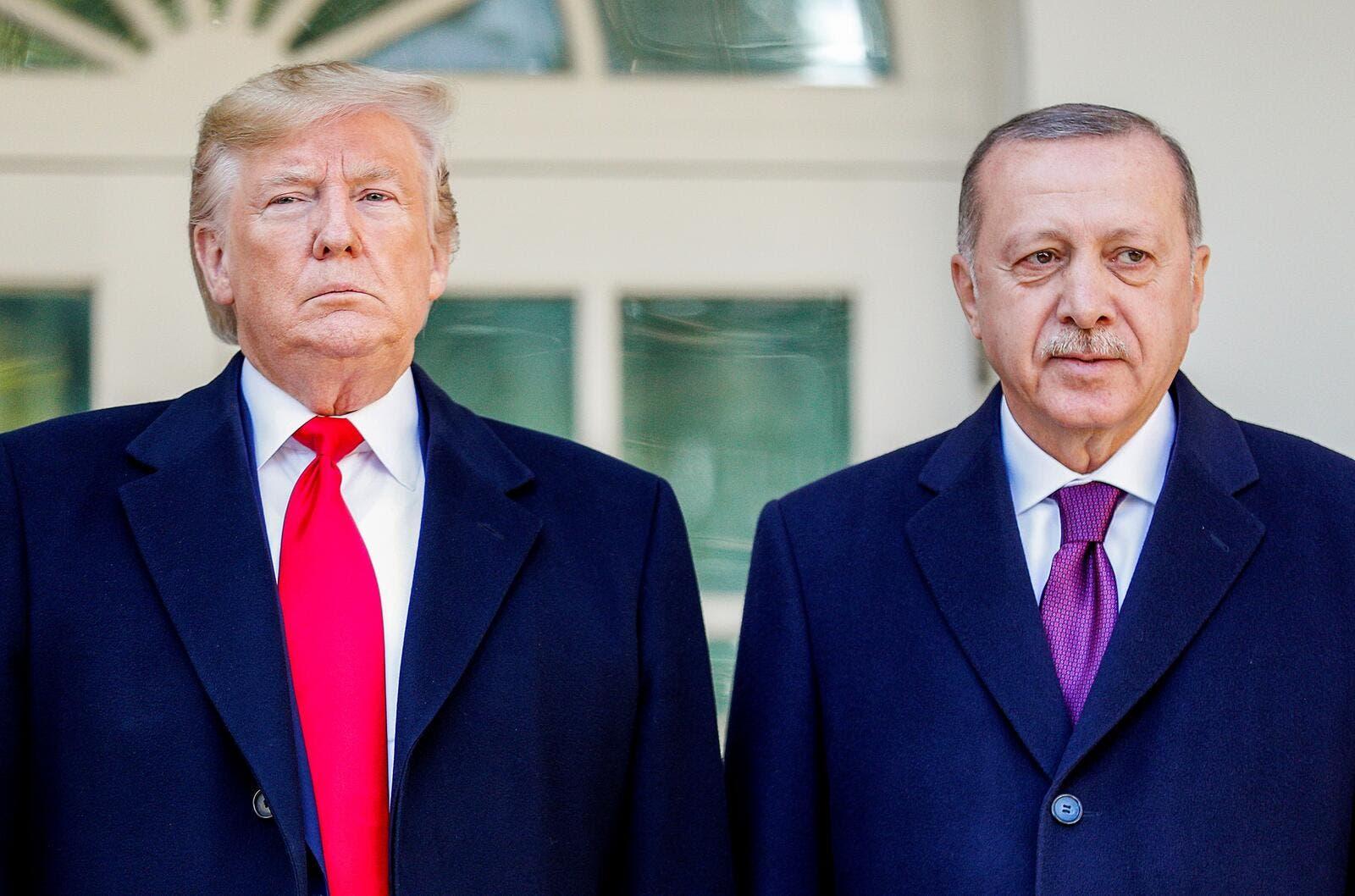 ترامب يستقبل اردوغان ويشيد بالعلاقات مع تركيا