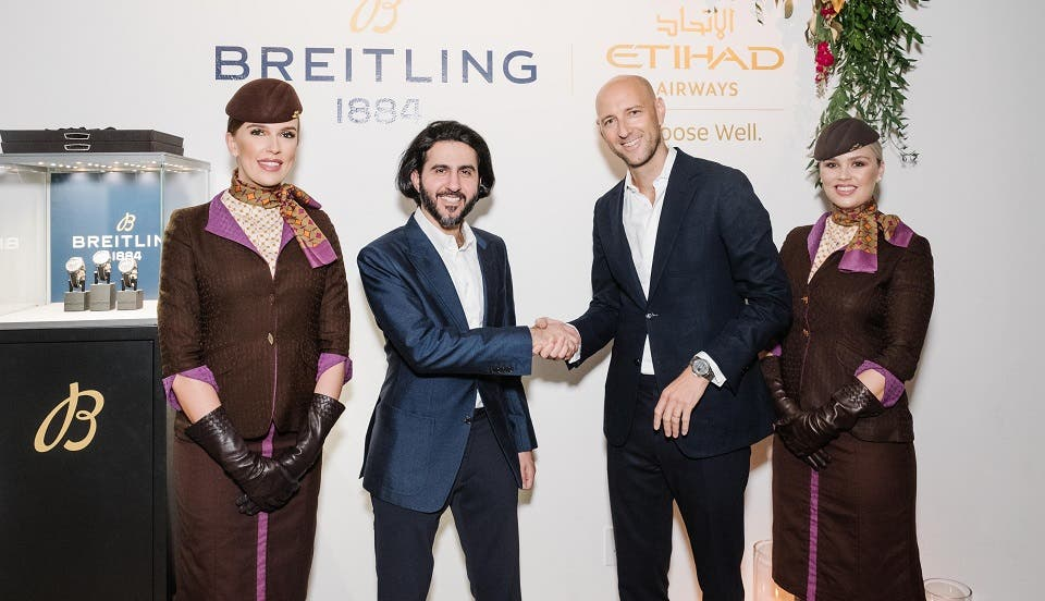 Etihad Airways Announces Partnership With Breitling As Its Official Timekeeper