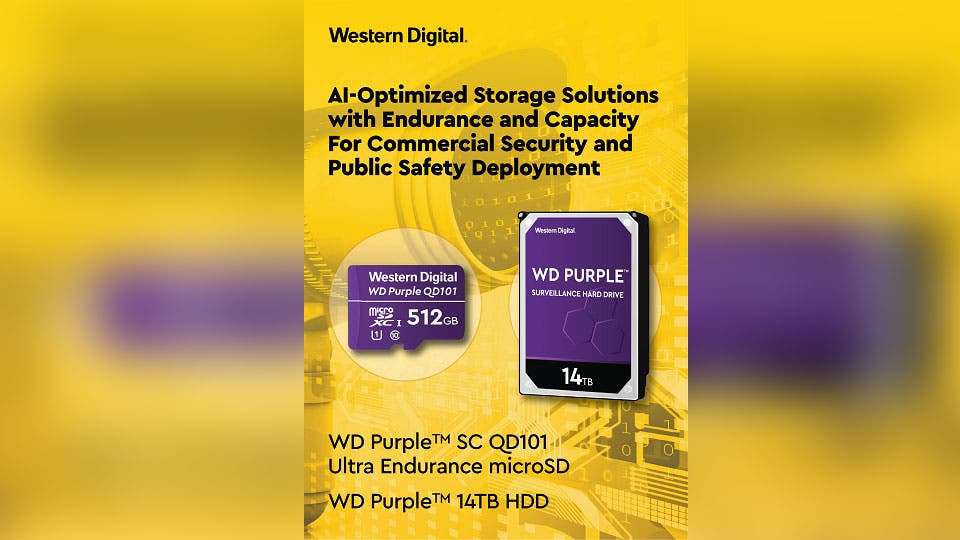 Western Digital Introduces Storage Optimized for Public Safety, AI and Smart City Deployments