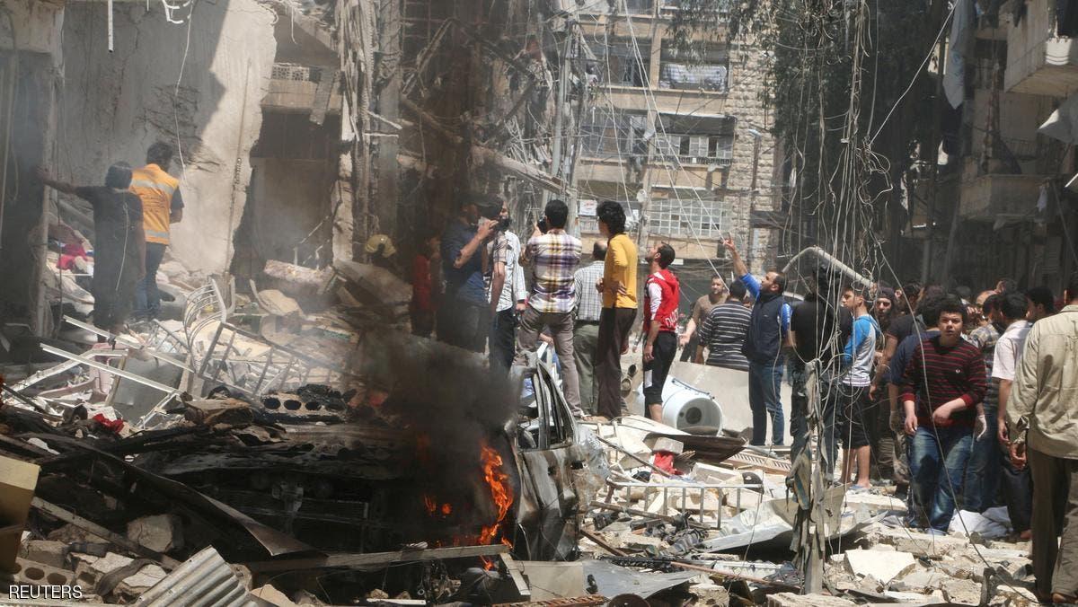 مقتل 50 شخصا جراء قصف على إدلب وحلب