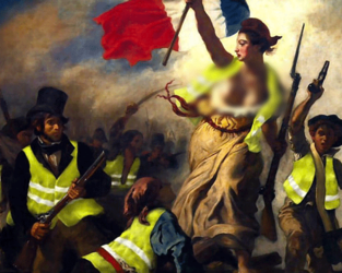 Liberty Leading the People. Painting by Eugène Delacroix (Twitter Meme)