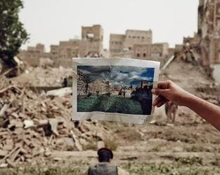 Photos shows the destruction Yemen has witnessed in 10-years-period. (Twitter)