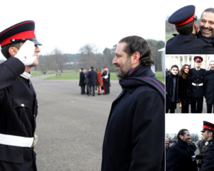 Lebanon's PM Saad Hariri in London while attending his son's graduation from a royal British military academy. (Twitter)