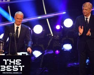 The France coach was recognized at Monday's FIFA Best Awards in London following Les Bleus' World Cup triumph