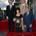 Jimmy Kimmel, Sarah Silverman, John C. Reilly and Hollywood Chamber of Commerce, President/CEO Leron Gubler attend her being honored with a Star on the Hollywood Walk of Fame. (AFP/File)