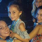 Family: Bella Hadid couldn't help but gush over her 'beautiful' family while taking them to see her beau the Weeknd perform in their hometown of Dubai on Friday (Source: bella hadid - Instagram)
