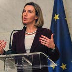Under pressure. European Union Foreign Policy Chief Federica Mogherini speaks to the media in Brussels, on October 18. (Shutterstock)
