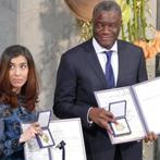 الدكتور الكونغولي دينيس موكويجي و العراقية الإيزيدية نادية مراد يستلمان جائزة نوبل للسلام