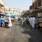 Jeddah's central vegetables market, which is the largest wholesale market in the Kingdom, is witnessing a drop in supplies, pushing up the prices of green leaves. (Shutterstock)