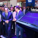 President Sisi tours the Cairo International Exhibition and Conference on Information and Telecommunication Technology. (Cairo ICT 2018)