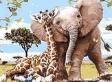 الفيل والزرافة