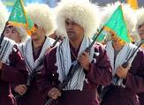 Turkmen Basij militiamen take part in an annual military parade marking the Iran-Iraq war, in the Iranian capital Tehran. (AFP/File Photo)