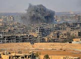 Smoke billows from the eastern Syrian city of Deir Ezzor during an operation by Syrian government forces against Daesh group on November 2, 2017. (AFP)