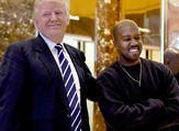 Odd couple: West, shown with Trump in December 2016 in New York City, tweeted that 'the mob can't make me not love him' while also calling him his 'brother' (Source: AFP)