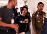 رهف محمد القنون خلال تواجدها في بانكوك