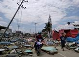 The national disaster agency put the official death toll so far at 384. (AFP)