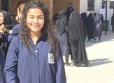 Yehya at her school in Tibnin, Lebanon. (The Daily Star/Behbod Negahban)