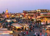 ourists and locals on the Djemaa-el-Fna square during sunset in Marrakesh (Shutterstock)