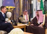 British foreign minister Jeremy Hunt has held talks with Saudi Arabia's King Salman (Twitter)