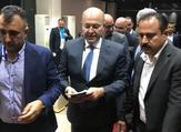 Iraq's newly elected president, Kurdish politician Barham Salih (C). (AFP/File)