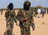 Somali Al-Shebab fighters as they gathered on Feb. 13, 2012 in Elasha Biyaha. (AFP/File)