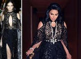 Ahlam asked for some changes in a dress designed by Zuhair Murad specially in the chest and leg areas.