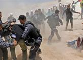 Protesters clash with Israeli police in the Palestinian Bedouin village of Khan al-Ahmar in the occupied West Bank. (AFP/File)