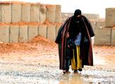 A Syrian refugee from the informal Rukban camp .(AFP/File)
