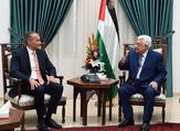 Mahmoud Abbas, discusses the current Palestinian situation with UN Middle East Envoy Nickolay Mladenov (Twitter)
