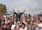 Palestinian patriot Mahmoud Jabarin after serving 30 years as a political prisoner in Israeli jails (Twitter)