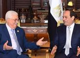 الرئيسان المصري عبدالفتاح السيسي والفلسطيني محمود عباس