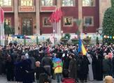 الأمازيغ يحتفلون ببدء العام الأمازيغي الجديد خارج مقر البرلمان في العاصمة المغربية الرباط