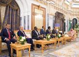 السفراء خلال لقائهم العاهل السعودي الملك سلمان