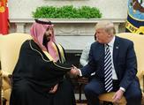 ارشيف/ الرئيس الأمريكي دونالد ترامب مرحبا بولي العهد السعودي محمد بن سلمان في البيت الابيض