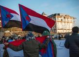 يمنيّون جنوبيون يتظاهرون في السويد للمطالبة باستقلالهم